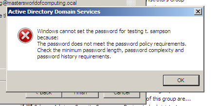 user account in a domain controller with server 2008