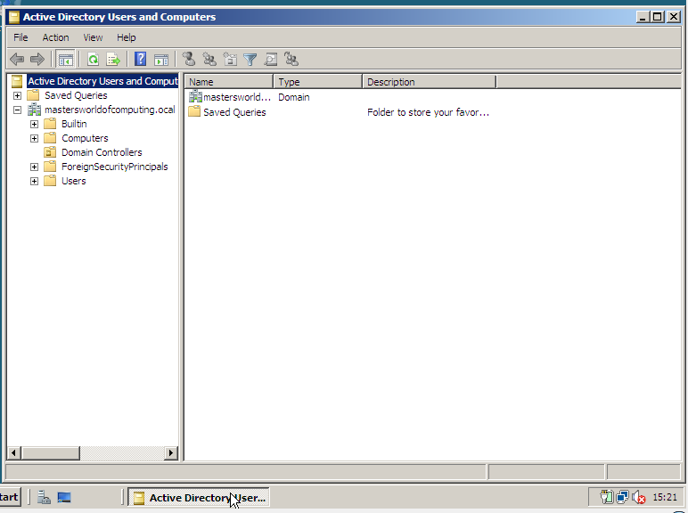 active directory users in server 2008