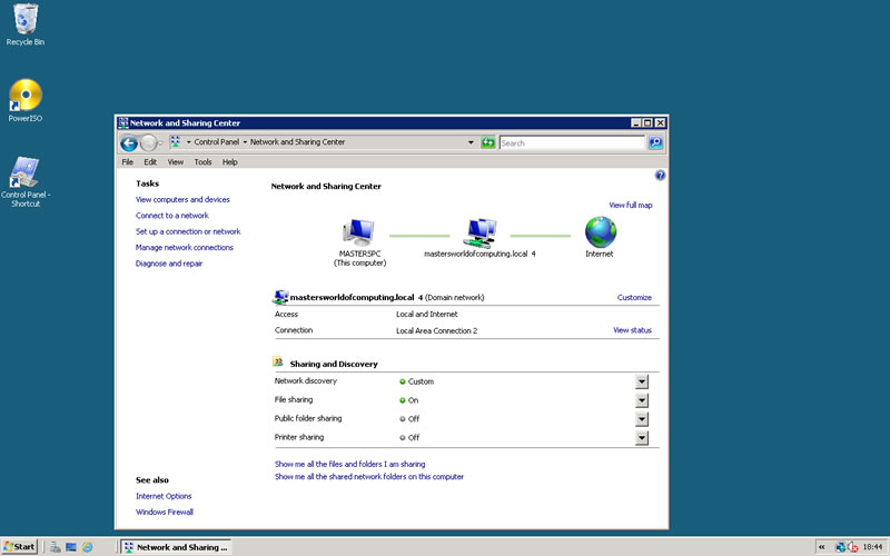 server 2008 static ip address can be setup following my 2008 tutorial