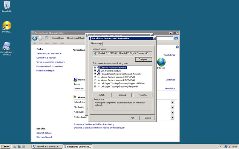 static ip address can be set in server 2008 with no problem
