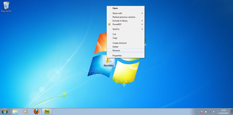 I will show you how to rename a folder you have created in windows 7