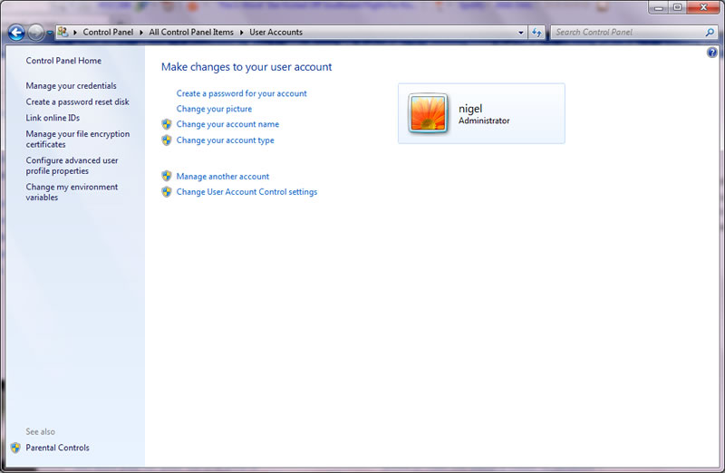 this is how we create a password in Windows 7