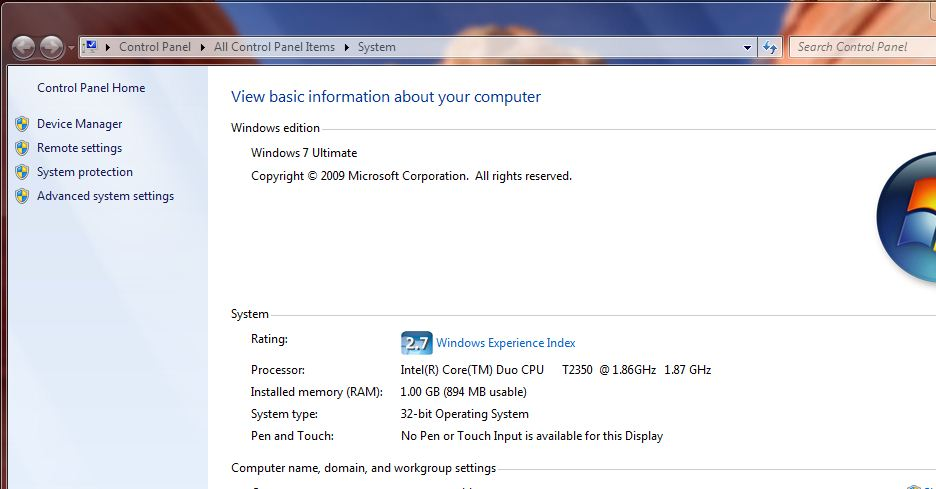 win 7 device manager is good for seeing hardware which is listed on your pc