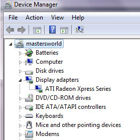 device manager hardware list